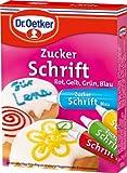 Dr. Oetker - Zusckerschrift '4 Farben' - 4 x 25 GR
