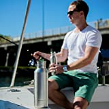 Stainless Steel Beer Cooler / Koozie Twin Pack by Bar and Steel:12 Oz. Bottle Insulator / Bonus Two Bottle Openers Included / Perfect Gift For Men / Quality Gift Box/ Pack of Two