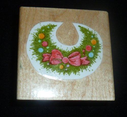 Floral Bib Rubber Stamp - 1