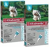 Bayer K9 Advantix II Teal, 11-20lbs.12 Month Supply Flea & Tick