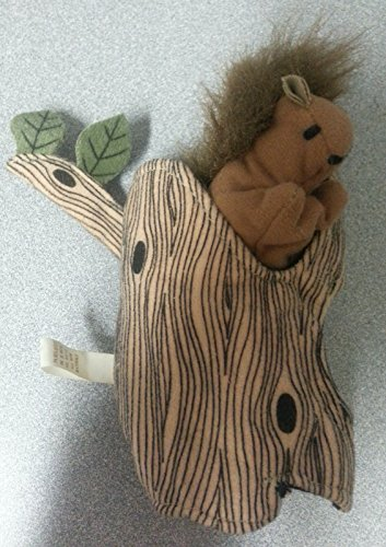 Folkmanis Squirrel Finger Puppet in a Tree - 1