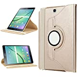 Samsung Galaxy Tab S2 9.7 Case,Bestwe 360° Slim Rotating Stand Leather Case Cover for Samsung Galaxy Tab S2 9.7-Inch Tablet (Galaxy Tab S2 9.7, Gold)