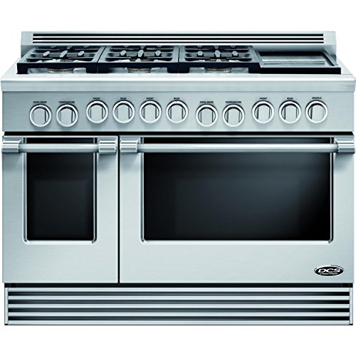 DCS-RGV486GDN-Professional-48-Stainless-Steel-Gas-Sealed-Burner-Double-Oven-Range-Convection