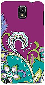 PrintVisa Pattern Abstract Floral Case Cover for Samsung Galaxy Note 3