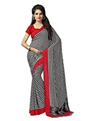Vaamsi Crep Chiffon Printed Saree(Silkytouch1001_Multi-Coloured_6.3 M Length)