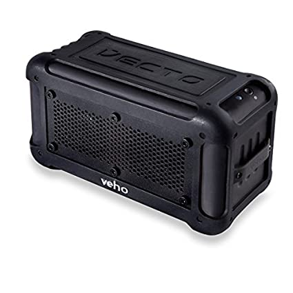 Veho Vecto Water Resistant Speaker Black, VXS-001-BLK (Black Wireless, w/ 6000 mAh Charger)