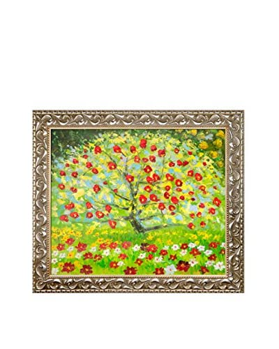 Gustav Klimt's The Apple Tree Framed Hand Painted Oil Canvas, Multi, 25.5″ x 29.5″
