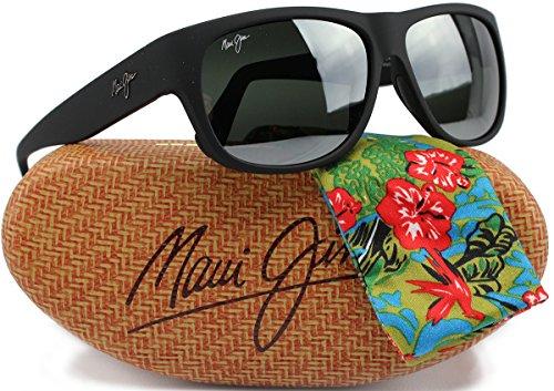 Maui Jim MJ282-02MR Makawao Sunglasses Matte Black Rubber w/ Neutral Grey 282-02MR 58mm Authentic<br />