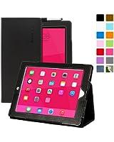 Snugg ™ - Étui Pour iPad 3 & 4 - Smart Case Avec Support Pied Et Une Garantie à Vie (En Cuir Noir) Pour Apple iPad 3 et 4