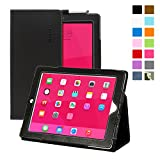Snugg iPad 2 Leather Case Cover and Flip Stand with Elastic Hand Strap and Pemium Nubuck Fibre Interior (Black)