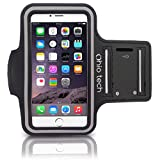 Ohio Tech iPhone Running & Exercise Armband for iPhone 6, 5, 5s, 5c, 4, 4s -  Black