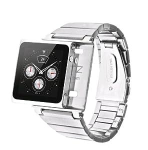 iWatchz Métal Stainless Steel Bracelet iPod Nano 6G montre