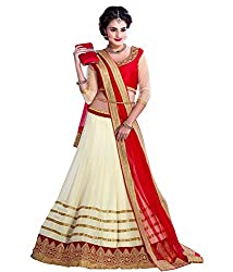 Bhavya Enterprise Cream Georgatte Lehenga