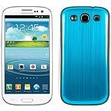 kwmobile® Akku-Deckel aus gebürsteten Aluminium für das Samsung Galaxy S3 i9300 / S3 Neo i9301, Hellblau