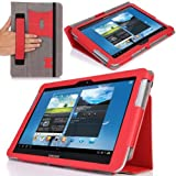 MoKo Slim Cover Case For Samsung Galaxy Note 10.1 N8000 N8010 N8013 Tablet RED (with Flip Stand And Integrated...