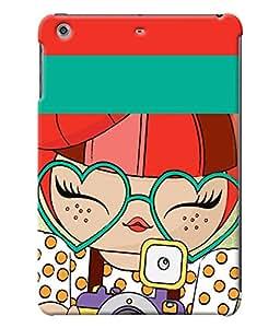 Fuson Cute Girl Back Case Cover for APPLE IPAD MINI 2 - D3994