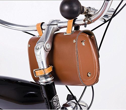 Comfortable Soft Vintage Bicycle Saddle or Handlebar Tools Bag 1