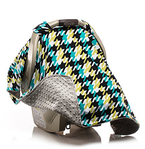Elonka Nichole Baby Boy Car Seat Canopy, Hounds Tooth