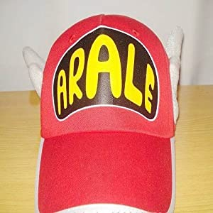 Dr.Slump Arale Chan Cap Hat With Angel Wings Cosplay Red