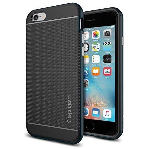 Spigen iPhone6s ケース / iPhone6 ケース, ネオ・ハイブリッド  [ 米軍MIL規格取得 二重構造 スリム フィット ] アイフォン6s / 6 用 カバー (メタル・スレート SGP11619)