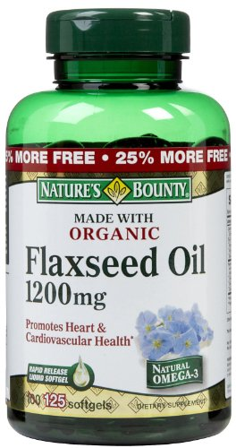 Nature's Bounty Organic Flaxseed Oil 1,200 mg
