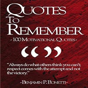 Quotes to Remember - Benjamin Bonetti Audiobook