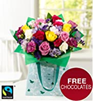 Fairtrade® Rose & Freesia Gift Bag