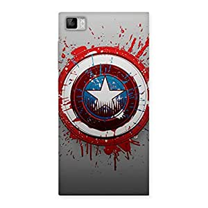 FROZEN VIBES Wo Blood Red Round Back Case Cover for Xiaomi Mi3