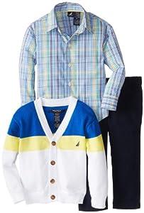 Nautica Boys 2-7 Cardigan Sweater Set by Nautica