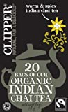 Clipper Organic Indian Chai 20 Teabags (Pack of 6, Total 120 Teabags)