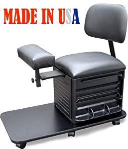 Dina Meri 2318 Pedicure Station Pedicure Stool with Back Support