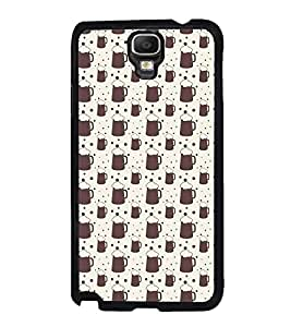 Fuson Premium 2D Back Case Cover Mugs Pattern With Multi Background Degined For Samsung Galaxy Note 3 Neo N7505