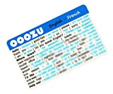 OOOZU French Language Card - phrasebook alternative Keep the essential words in your wallet, purse or pocket Light to carry, quick to use, made from biodegradable plastic Easy alternative to a French phrase book, French dictionary, mobile phone or