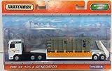 Matchbox Super Convoys DAF XF 105 Generator color orange