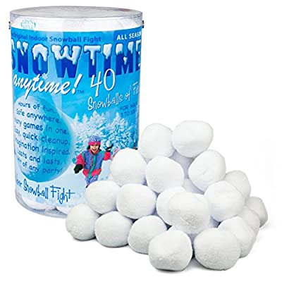 Indoor Snowball Fight - Snowtime Anytime 40pk - Safe, No Mess, No Slush from Snowtime Anytime