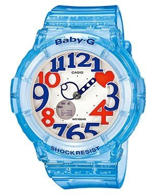 [CASIO] CASIO watch Casio CASIO baby-g baby G overseas model imports Neon Dial Series neon dial series ネオンイルミネーター 10 ATM water resistant watch Watch Blue