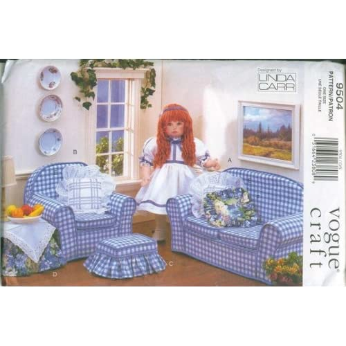 18 Doll Furniture Sewing Patterns