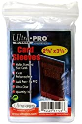 Ultra Pro 100 Soft Sleeves / Penny Sleeves for Pokemon, Magic, and Standard-Sized Sports and Trading Cards