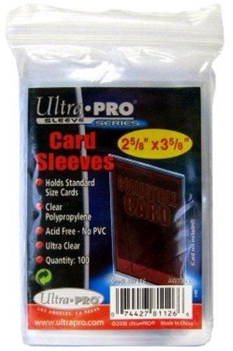 Ultra Pro - Protèges Cartes souples transparentes - lot de 100 Protèges cartes