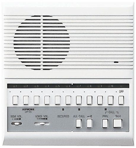 Aiphone Lef-10C Open Voice Selective Call Master Intercom With All-Call And Door-Release Buttons; Semi-Flush Mount; Accepts Up To 10 Connecting Door, Sub-Master, Or Master Intercoms front-716477