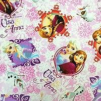 1m単位での切売り アナと雪の女王 ピンク 2014 キャラクター生地 オックス 【2mまではメール便(郵便ポスト投函)での発送です】 (ピンク)