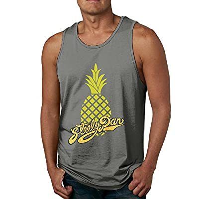 RCINC Custom Made Pineapple With Rock Band Unique Vest DeepHeather