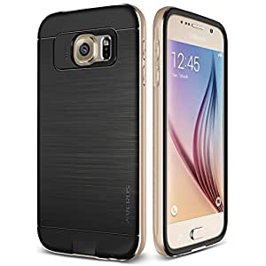 Verus Slim Fit Heavy Duty Kickstand Case for Samsung Galaxy S6 - Retail Packaging - Iron Champagne Gold