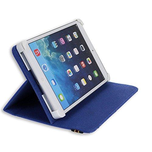 "Danystar® Custodia Cover Universale / Regolabile 8'' per Tablets come Acer Iconia W3 , Alcatel One Touch Pixi 8, Archos 80 Xenon , Archos G9 Turbo 8 , Archos 80 Titanium , Asus Zenpad 8.0 Z380KL , Asus ZenPad S Z580CA, iRULU eXpro 1S Tablet (X1S) 8"", Huawei S8, Huawei M2-801L, Huawei MediaPad T1 8.0 , Mediacom Smart Pad 875 S2 , Mediacom SmartPad 8.0 S4 , Mediacom WinPad 8.0 W801, Time2® 8"", Trekstor SurfTab Ventos 8.0 - Accessori per Tablet Danystar (Blu)"