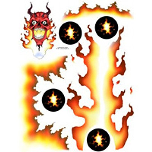 Spaz Stix SIC003 Devil Fire Exterior Decal Sheet