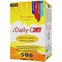 IOTH IDailyD Cal - Vitamin D3 1000 IU + Calcium Carbonate 1250 Mg - For Unsurpassed Absorption - 60 Rapid Release...