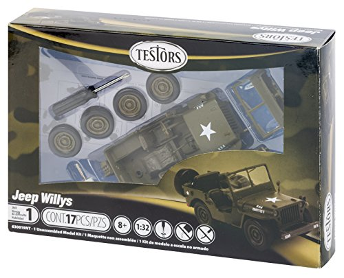 Testors Jeep Willys Model Kit (1:32 Scale)