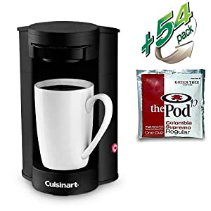 Single Cup Coffee Maker No Pods : Amazon.com: Cuisinart W1CM5 Commercial 1 Cup Coffee Pod Brewer with 54 Colombia Supremo Pods ...