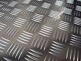 Aluminum checker plate 625x625x5/6,5mm aluminum sheet QUINTET Alu plate