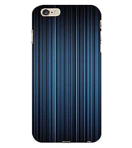 PrintVisa Blue Stripes Design 3D Hard Polycarbonate Designer Back Case Cover for Apple iPhone 6 Plus